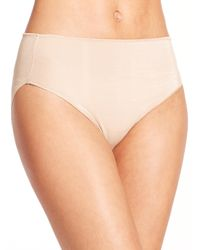 Tc Fine Intimates - Natural Microfiber High-cut Briefs - Lyst
