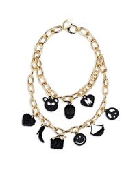 Moschino | Metallic Necklace | Lyst