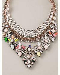 Shourouk - Multicolor 'river Cosmic' Necklace - Lyst
