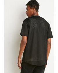 Forever 21 - Black Athletic Mesh Baseball Jersey You've Been Added To The Waitlist for Men - Lyst
