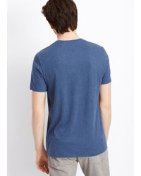 VINCE | Blue Favorite Heathered Jersey V-neck Tee for Men | Lyst