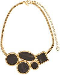 Marni | Metallic Gold And Black Horn Necklace | Lyst