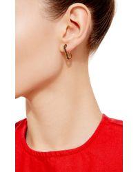 Genevieve Jones - Metallic Classic Wishing Safety Pin Earring - Lyst