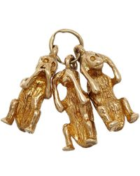Annina Vogel - Metallic Vintage Gold Three Monkeys Charm - Lyst