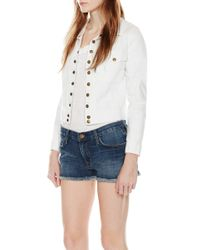 Current/Elliott | White The Snap Jacket | Lyst