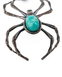 Lanvin - Black Spider Necklace for Men - Lyst