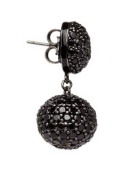 M.c.l - Black Spinel Pave Drop Earrings - Lyst