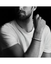 David Yurman   Metallic Chevron Id Bracelet for Men   Lyst
