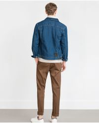 Zara | Blue Denim Jacket for Men | Lyst