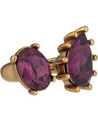 Oscar de la Renta - Metallic Ultraviolet Pear Stone Ring - For Women - Lyst