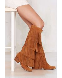 Jeffrey Campbell | Brown Esconder Fringe Suede Boot | Lyst