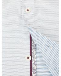 Ted Baker - White Bigidea Micro Dobby Shirt for Men - Lyst