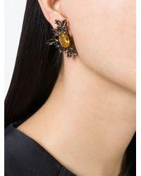 Iosselliani   'black On Black Memento' Clip-on Earrings   Lyst