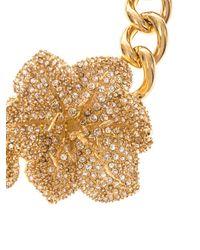 Alexander McQueen | Metallic Crystal-Embellished Flower Choker | Lyst