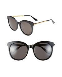 Gentle Monster - Black 56mm Round Sunglasses - Lyst