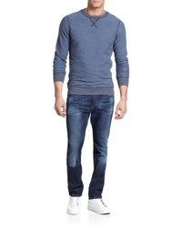 DIESEL - Blue P-lisse Striped Cotton Sweatshirt for Men - Lyst