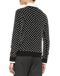 Michael Kors - Black Pearlescent Hand-embroidered Sweater - Lyst