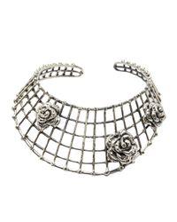 Anndra Neen | Metallic 'Cage' Choker | Lyst