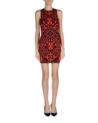 Alexander McQueen - Red Short Dress - Lyst