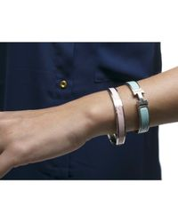 Hermès | Pre-owned Pink Enamel Silver Logo 65 Bracelet | Lyst