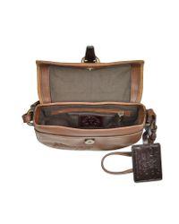 La Martina   Brown Mirada Cognac Leather Small Shoulder Bag   Lyst