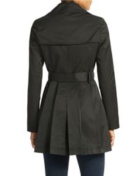 Via Spiga | Black Plus Double Breasted Scarpa Hooded Trench Coat | Lyst