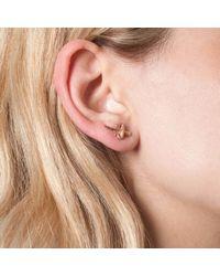 Leivan Kash - Metallic Dagger Mini Stud Earrings Rosegold - Lyst