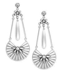 Gerard Yosca - Metallic Faux Pearl Fan Chandelier Earrings - Lyst