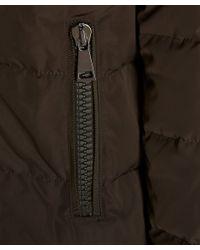 Moncler - Natural Khaki Gerboise Padded High-collar Down Coat - Lyst