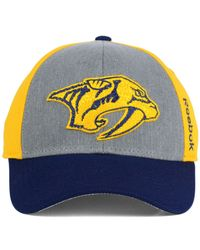 Reebok - Yellow Nashville Predators Tnt Flex Cap for Men - Lyst
