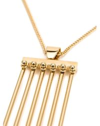 Chloé | Metallic Rigid Pendant Necklace | Lyst