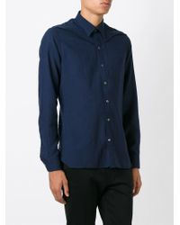 Lanvin - Blue Classic Shirt for Men - Lyst