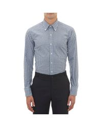 Thom Browne - White Checkpattern Broadcloth Shirt for Men - Lyst