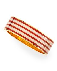 kate spade new york - Black Striped No Strings Attached Bangle Maraschino Redpink - Lyst