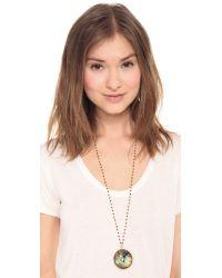 Ela Rae - Multicolor Morah Necklace - Garnet/Labradorite - Lyst