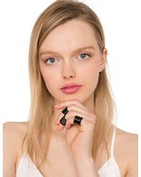 Pixie Market - Black Outsiders Band Ring Set - Lyst