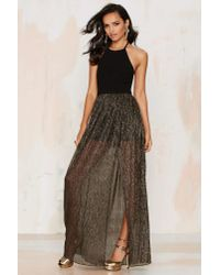 Nasty Gal | All Night Long Metallic Halter Dress | Lyst