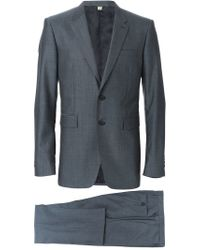 Burberry - Blue Two Piece Suit for Men - Lyst