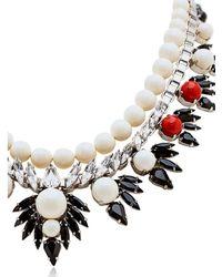 Ellen Conde - White Dipped In Rhodium Necklace - Lyst