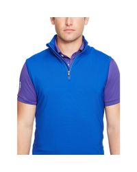 Ralph Lauren | Blue Performance Half-zip Vest for Men | Lyst