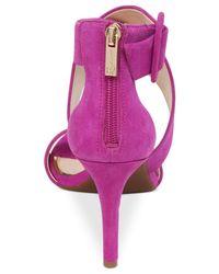 Jessica Simpson | Purple Liddy Cross Strap Sandals | Lyst
