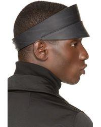 Rick Owens - Black Leather Visor for Men - Lyst
