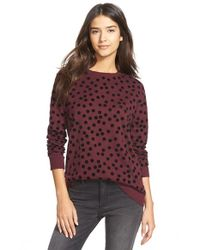 Hinge | Purple Polka Dot Relaxed Sweater | Lyst