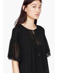 Mango | Black Panel Contrast Dress | Lyst