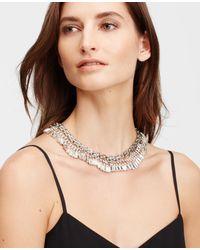 Ann Taylor - Metallic Crystal Baguette Collar - Lyst