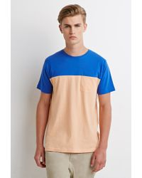 Forever 21 | Pink Colorblocked Pocket Tee for Men | Lyst