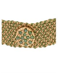 Carolina Bucci | Green Diamond, Silk & Yellow-Gold Bracelet | Lyst