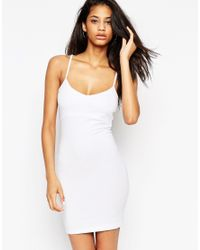 ASOS | White Mini Cami Bodycon Dress | Lyst