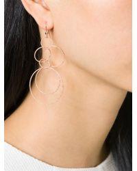 Carolina Bucci - Pink 18kt Rose Gold Interlocking Hoop Earrings - Lyst
