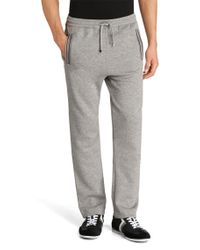 BOSS Green | Gray Regular-fit Jogging Trousers 'hadim' In Cotton Blend for Men | Lyst